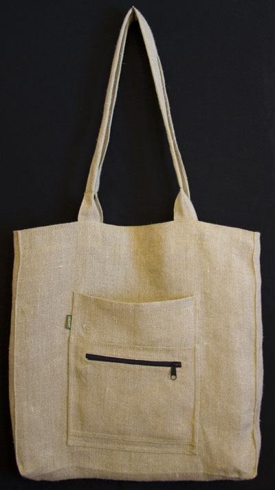 hemp market bag in tan color