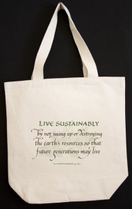 Live Sustainably Reuseable Bag