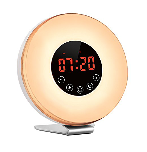 non alarm clock to wake up with light